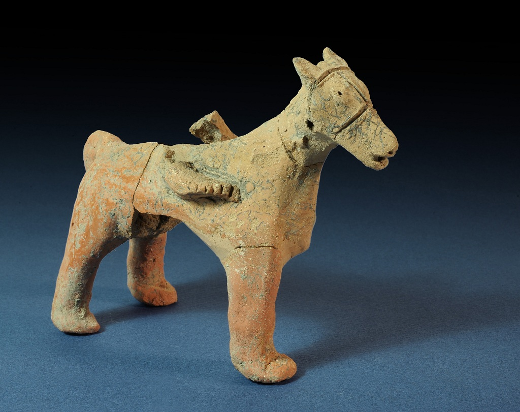 Figurine of a horse found in Tel Motza (photo credit: Clara Amit/ courtesy of IAA)