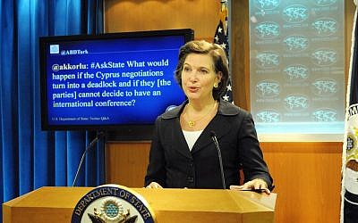 US State Department Spokesperson Victoria Nuland (photo credit: State Department photo/Public Domain)