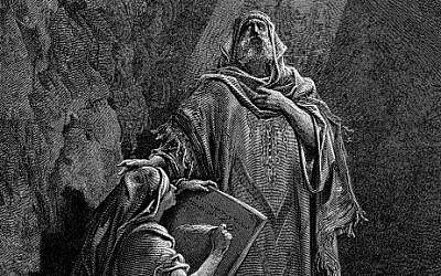 Jeremiah dictates his prophecy to Baruch. Illustration by Gustave Doré (photo credit: Wikimedia Commons)