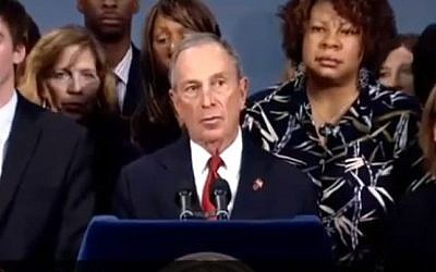 New York City Mayor Michael Bloomberg calls on the government to legislate more stringent gun control, on Monday, Dec. 17 (image capture: YouTube)