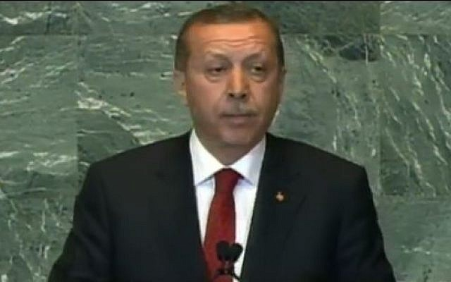 Turkish Prime Minister Tayyip Erdogan  (screen capture: YouTube/PBSNewsHour)