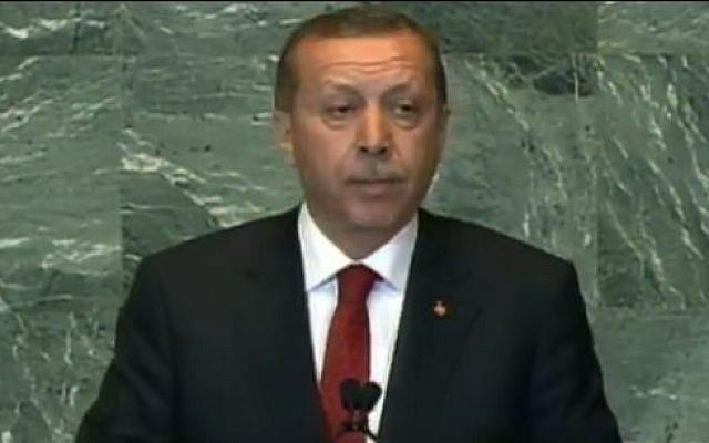 Turkish Prime Minister Tayyip Erdogan  (screen capture: YouTube/PBSNewsHour)