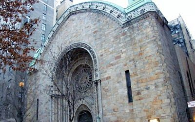 The Bnei Jeshurun synagogue on Manhattan's Upper West Side (photo credit: Americasroof/Wikimedia Commons/File)