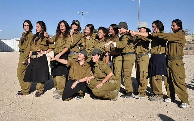 Religious 12th graders during a pre-army training week (Photo credit: Courtesy: Avichai Deri/ Aluma)