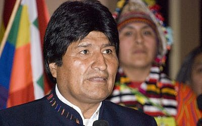 Bolivian President Evo Morales. (Photo credit: CC BY/Sebastian Baryli via Flickr.com)