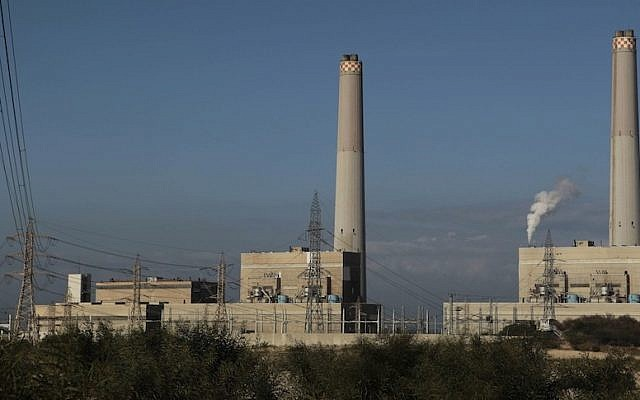 A general view of the Eshkol power station, the first in Israel to produce electricity from natural gas, in the coastal city of Ashdod (Photo credit: Tsafrir Abayov/Flash90)