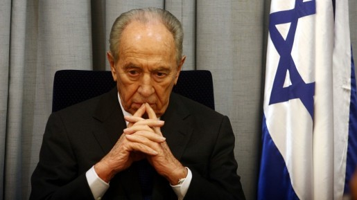 Shimon Peres at a memorial ceremony to commemorate the death of Yitzhak Rabin on Tuesday, October 23, 2007, at his house. (photo credit: Orel Cohen/Flash90)
