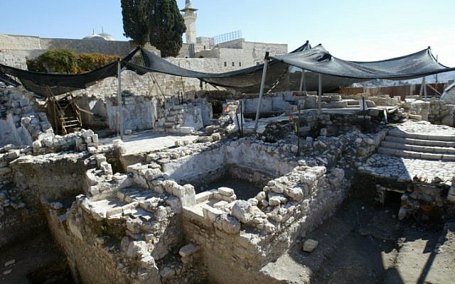 Archaeological excavations in Jerusalem's Old City next to the Temple Mount. (photo credit: Olivier Fitoussi/Flash90)