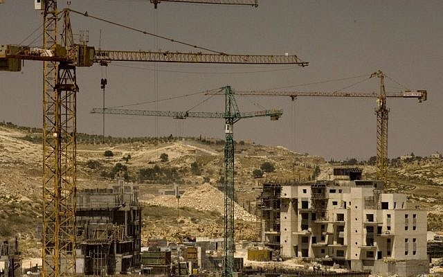 Construction in the neighborhood of Har Homa in East Jerusalem (photo credit: Olivier Fitoussi/Flash90)