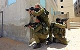 Illustrative photo of IDF soldiers training (Tsafrir Abayov/Flash90)