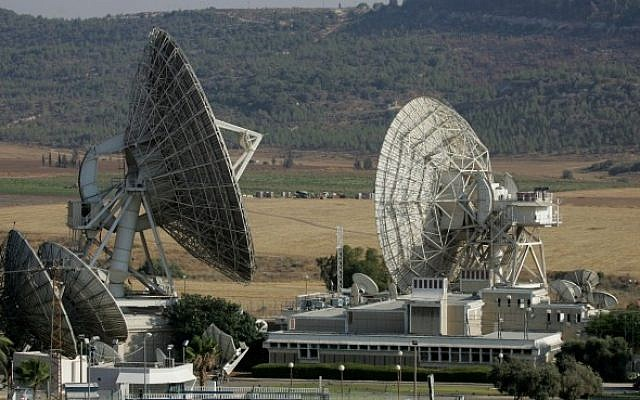 Illustrative photo of satellite dishes (photo credit: Nati Shohat/Flash90)