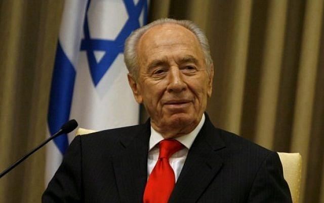 President Shimon Peres in 2009 (Miriam Alster/Flash90)