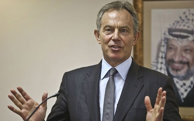 Special Envoy to the Quartet of Middle East Peacemakers, Tony Blair, attends a press conference in the West Bank city of Ramallah, March 8, 2010. (photo credit: Issam Rimawi/Flash90)
