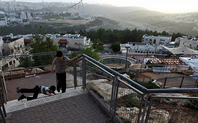 Children playing in Ramat Shlomo in 2010. (photo credit: Kobi Gideon/Flash90)