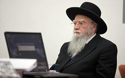 Former Chief Rabbi Eliyahu Bakshi Doron, May, 2010. (photo credit: Yossi Zamir/Flash90)