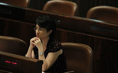 Balad MK Hanin Zoabi (photo credit: Miriam Alster/Flash90)