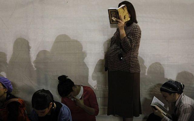 Orthodox women praying (illustrative photo: Mariam Alster/Flash90)