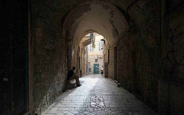 An alley in the Arab Israeli city of Nazareth in northern Israel (photo credit: Nati Shohat/Flash90)