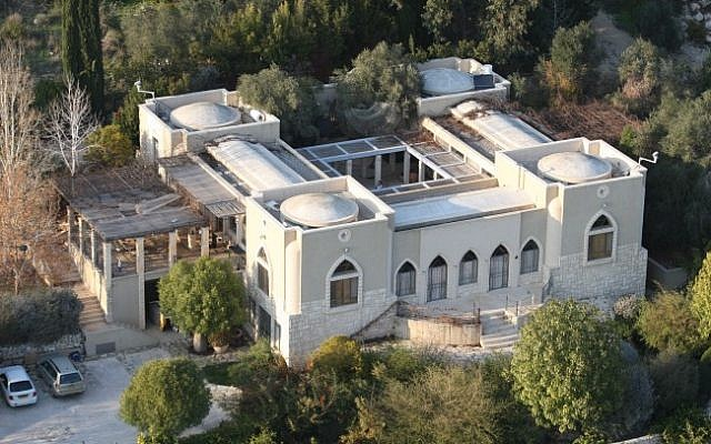 An aerial view of Yoav Galant's house in Amikam in the north of Israel. (photo credit: Meir Partush/Flash90)