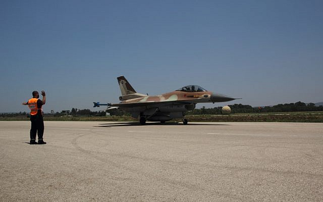 An Israeli F16 readying for takeoff. (photo credit: Ofer Zidon/Flash90)