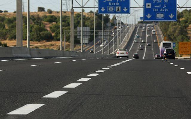 An Israeli highway (illustrative photo credit: Nati Shohat/Flash90)
