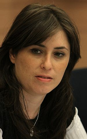 Likud MK Tzipi Hotovely seen in the Israeli parliament. July, 2012. (photo credit: Miriam Alster/FLASh9)