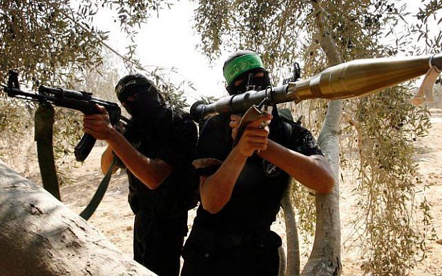 Hamas militants in the Gaza Strip (photo credit: Abed Rahim Khatib/Flash90/File)