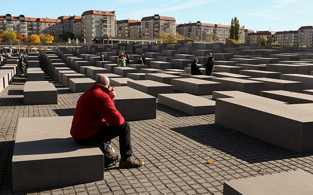 View of the Holocaust Memorial in Berlin, Germany (photo credit: Nati Shohat/Flash90)