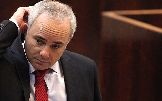 Finance Minister Yuval Steinitz during a Knesset session in November (photo credit: Yoav Ari Dudkevitch/Flash90)