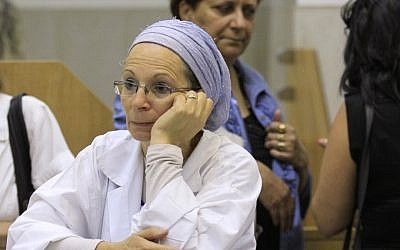 A nurse from Bikur Holim Hospital in Jerusalem appears at the National Labor Court during a staff strike in early November, 2012 (photo credit: Oren Nahshon/Flash90)