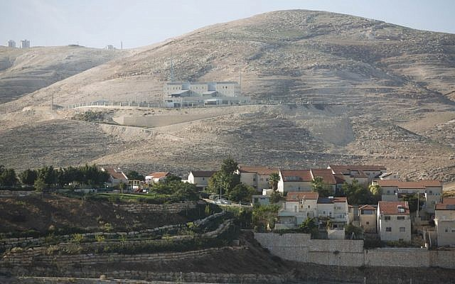 A view of the Jewish West Bank city of Ma'ale Adumim (Yonatan Sindel/Flash90)