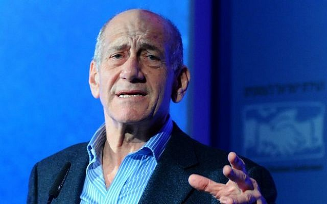 Former prime minister Ehud Olmert (Yossi Zeliger/Flash90/File)