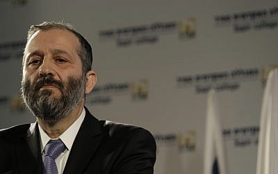 Shas party leader Aryeh Deri, December 2012  (photo credit: Tsafrir Abayov/Flash90)