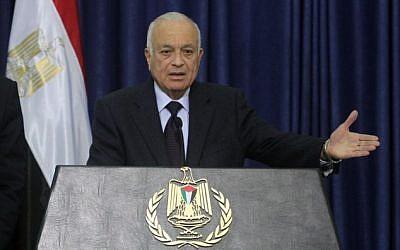 Arab League Secretary General Nabil Elaraby (photo credit: Issam Rimawi/Flash90)