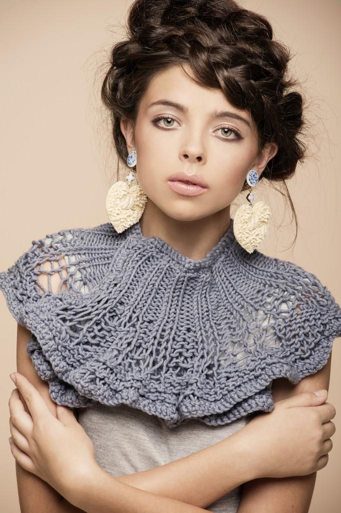 A Victorian-inspired knit collar (photo credit: Gilad Bar Shelo/Courtesy Jul)