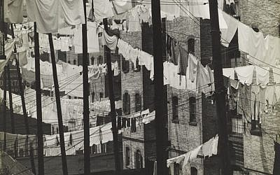 New York in 1937. (photo credit: Consuelo Kanaga's 1937 'Untitled (Tenements, New York)'/Courtesy of the Contemporary Jewish Museum)