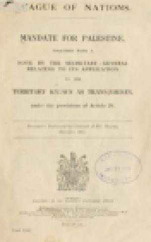 "The Mandate for Palestine -- ""Territory Known as Trans-Jordan"" (photo: Public Domain)"