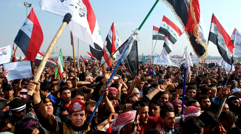 Protesters Chant Slogans Against Iraqs Shiite Led Government In Ramadi 70 Miles 115