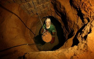 A smuggling tunnel on the Gaza-Egypt border (AP Photo/Kevin Frayer, File)