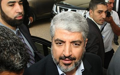 Khaled Mashaal (photo credit: AP/Amine Landoulsi)