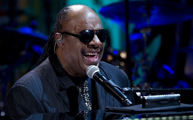 Stevie Wonder performs at the White House in Washington in May 2012. (photo credit: AP Photo/Carolyn Kaster)