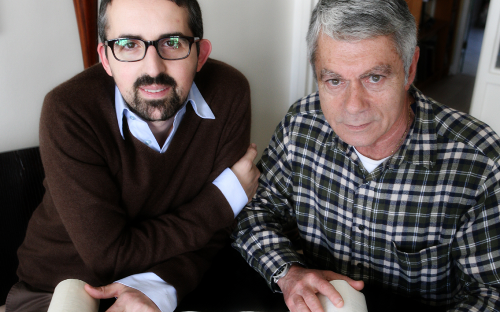 A best-selling collaboration started after Yohan Perez, left, approached TV journalist Bernard Benyamin in a French synagogue. (Courtesy of Editions First)