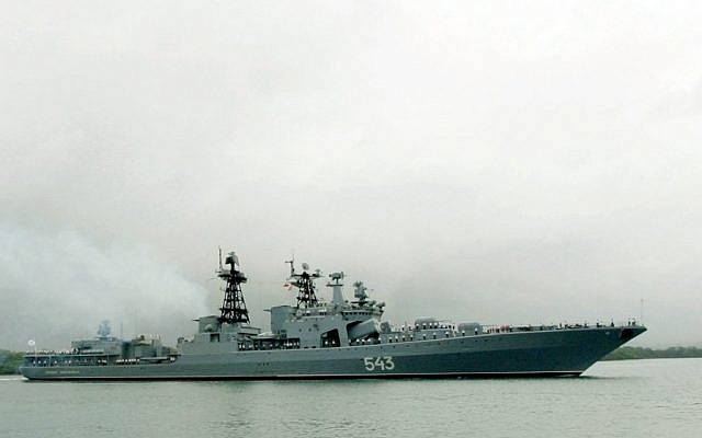 Illustrative photo: The Russian Federation Navy Udaloy class destroyer Marshal Shaposhnikov (US Navy)