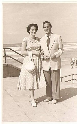 The Gartenbergs got engaged in May 1950, less than a year after their fateful flight. (Courtesy of the Gartenberg family)
