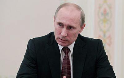 Russian President Vladimir Putin (photo credit: AP/RIA-Novosti, Mikhail Klimentyev, Presidential Press Service)