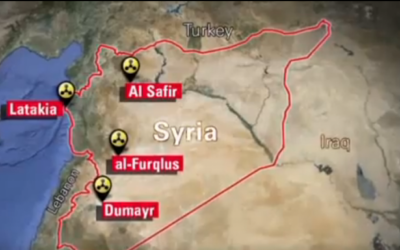 Suspected Syrian chemical weapons sites (photo credit: YouTube/CNN Screen Shot)