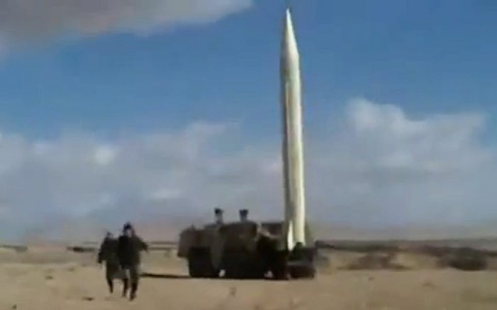 File: A screen capture from a video purporting to show the Syrian Army firing a Scud missile (image capture: YouTube)