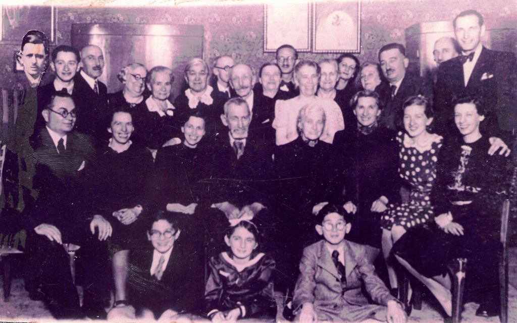 Members of the Pollacseg family came together for a celebration in Budapest in 1939. Most died during the Holocaust. (Courtesy of Hanna Nisman via JTA)