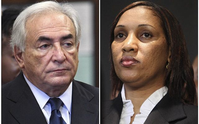 Former International Monetary Fund leader Dominique Strauss-Kahn and Nafissatou Diallo (photo credit: AP)