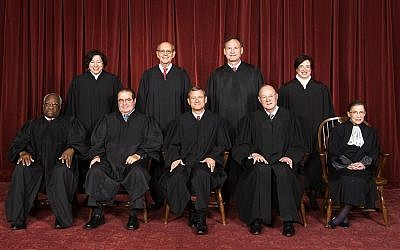 The US Supreme Court is expected to rule in June on two cases that will have major consequences in the American fight over equal rights for gays. (Oyez Project via JTA)